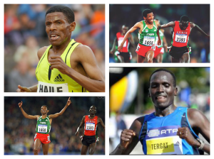 Haile Gebreselaisse and Paul Tergat